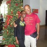 My fellow Director hugging staff member Candace Sampson