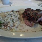 Veal chops with risotto.  Yummy!!!