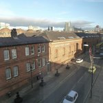 view from room onto Liverpool rd / Museum of Science & Industry