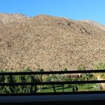 View of mountain from private balcony