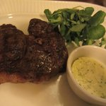Steak with garlic butter