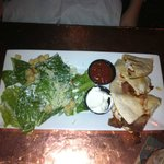 Chicken & bacon quesadilla w/ Caesar salad