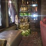 Wine bottle Christmas Tree - Hotel Vintage Park lobby