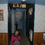 Caboose sitting area/restroom
