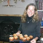 Ann bakes fresh muffins or croissants every morning