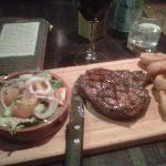 ribeye-good piece of meat,well presented