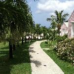 the walk around the resort, so quiet