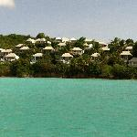 Cocobay Resort from the water all the cabins