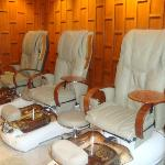 Pedicure and foot massage area