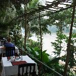 Breakfast over the Mekong