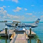 Seaplane docked at Little Palm Island