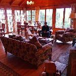 The main lodge inside