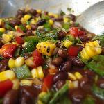 Mexican corn bean salad