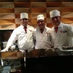 3 amazing sashimi chefs vs me. Megu Restaurant