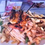 seafood platter again not sure what it was called very nice prawns were a little over cooked tho