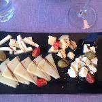 Cheese selection, Villa Ruza