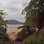 View at turtle beach end of island, across to Pulau Kapas
