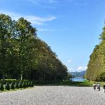 View from the gardens down to Chiemsee