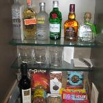 Half of the wet bar