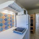 Une kitchenette en bungalow
