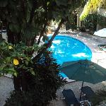 Pool area from my balcony