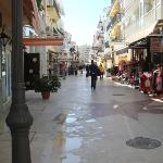 The local shopping street.