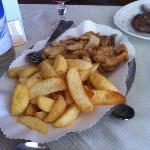 contorno di patate e funghi porcini fritti