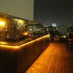 Rooftop bar.