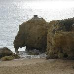 The elephant rock formation oura beach
