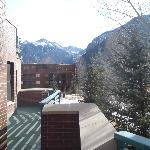 View of mountains from balcony on gondola side room, second floor