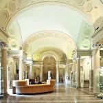 L'atrio del Museo Civico Archeologico di Bologna