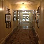 One of the grand hallways on the first floor.