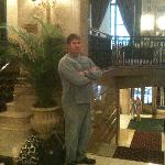 My happy husband waiting in the lobby !!!