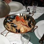 portuguese style paella,lots of seafood