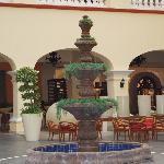 Fountain inside cove