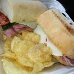 Italian hoagie great for a quick lunch.