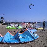 kite spot Pounta walking distance