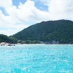 Hotelanlage vom Meer aus gesehen