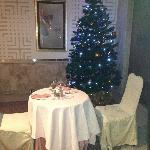 il mio tavolo e l'albero di natale