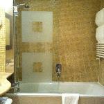 Bath with shower unit