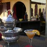 "Complimentary ""Morocco-tinis"" are served poolside each evening!"