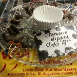 Chocolate dipped datil peppers