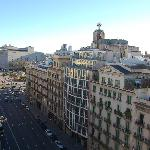 Placa de Cataluyna from roof terrace
