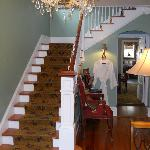 Front hall and stairs