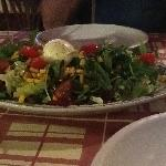 A wonderful fresh salad to begin the meal.