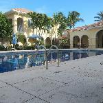 life around the pool