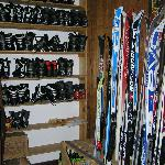 Ski touring equipment for rent