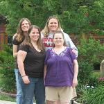 One last photo of the ladies in front of the B & B