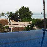 View over pool