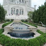 temple and pool